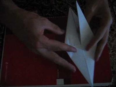 Pajaro que aletea de origami