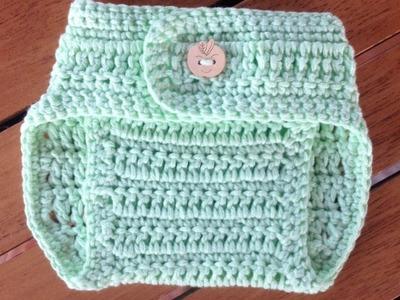 Pantalones para pañales en crochet - parte 2 Cinturilla con subtitulo de BerlinCrochet