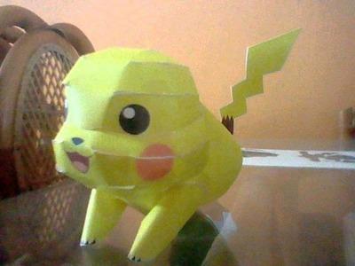 Papercraft de Pokemon (Pikachu)