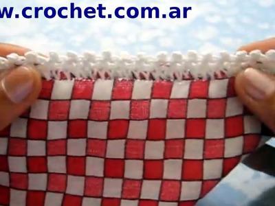 Puntilla N° 12 en tejido crochet tutorial paso a paso.