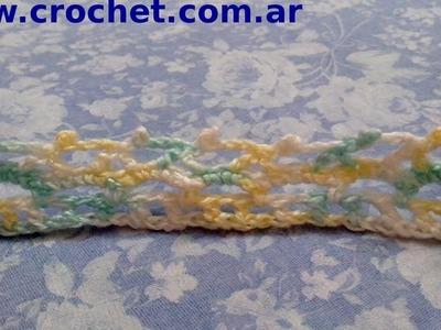 Puntilla N° 21 en tejido crochet tutorial paso a paso.