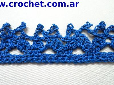 Puntilla N° 31 en tejido crochet tutorial paso a paso.