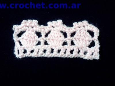 Puntilla Nº 6 en tejido crochet tutorial paso a paso.