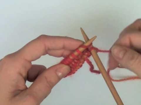 Punto Derecho (PD). Knit (K)