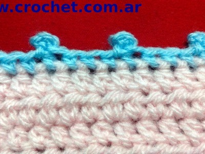 Punto picot en tejido crochet tutorial paso a paso.