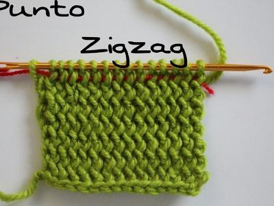 Punto Zigzag paso a paso ( Crochet ) Agujas # KNOOKING #