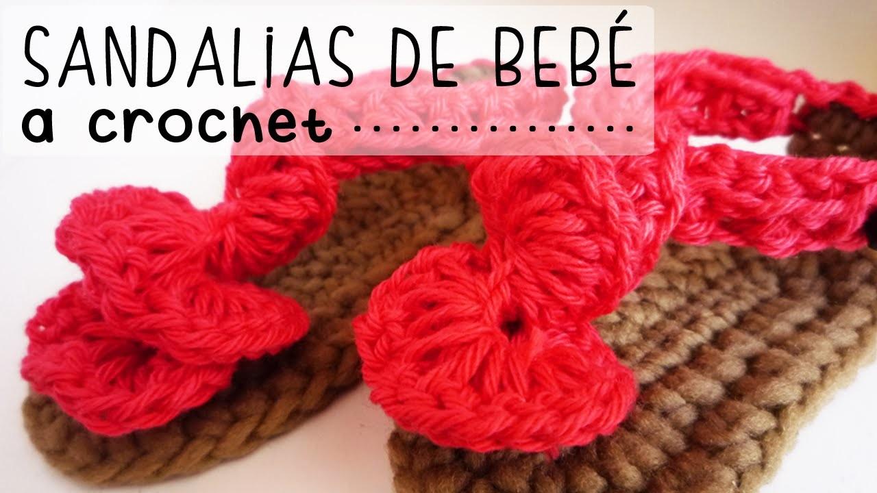 Sandalias de Bebé a Crochet - PASO A PASO - Parte 1 de 2