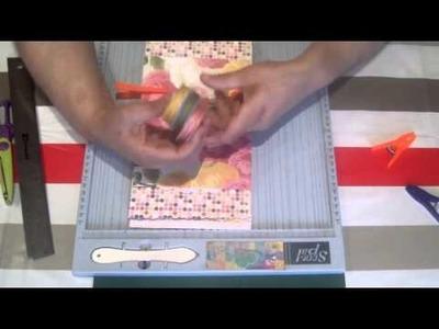 Scrapbook para principiantes.Tutorial  bookbinding minialbum shabby chic 1º parte.
