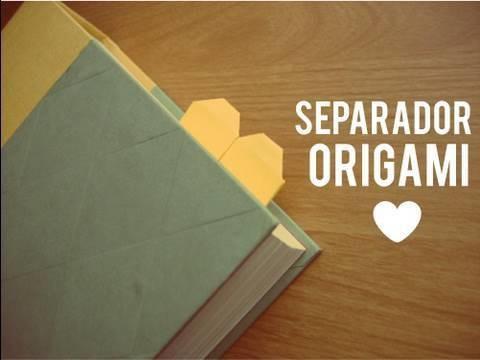 Separador de corazon. Origami