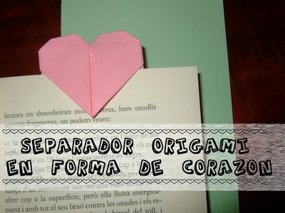 Separador origami en forma de corazón
