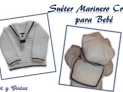 Suéter Marinero Crochet para Bebé
