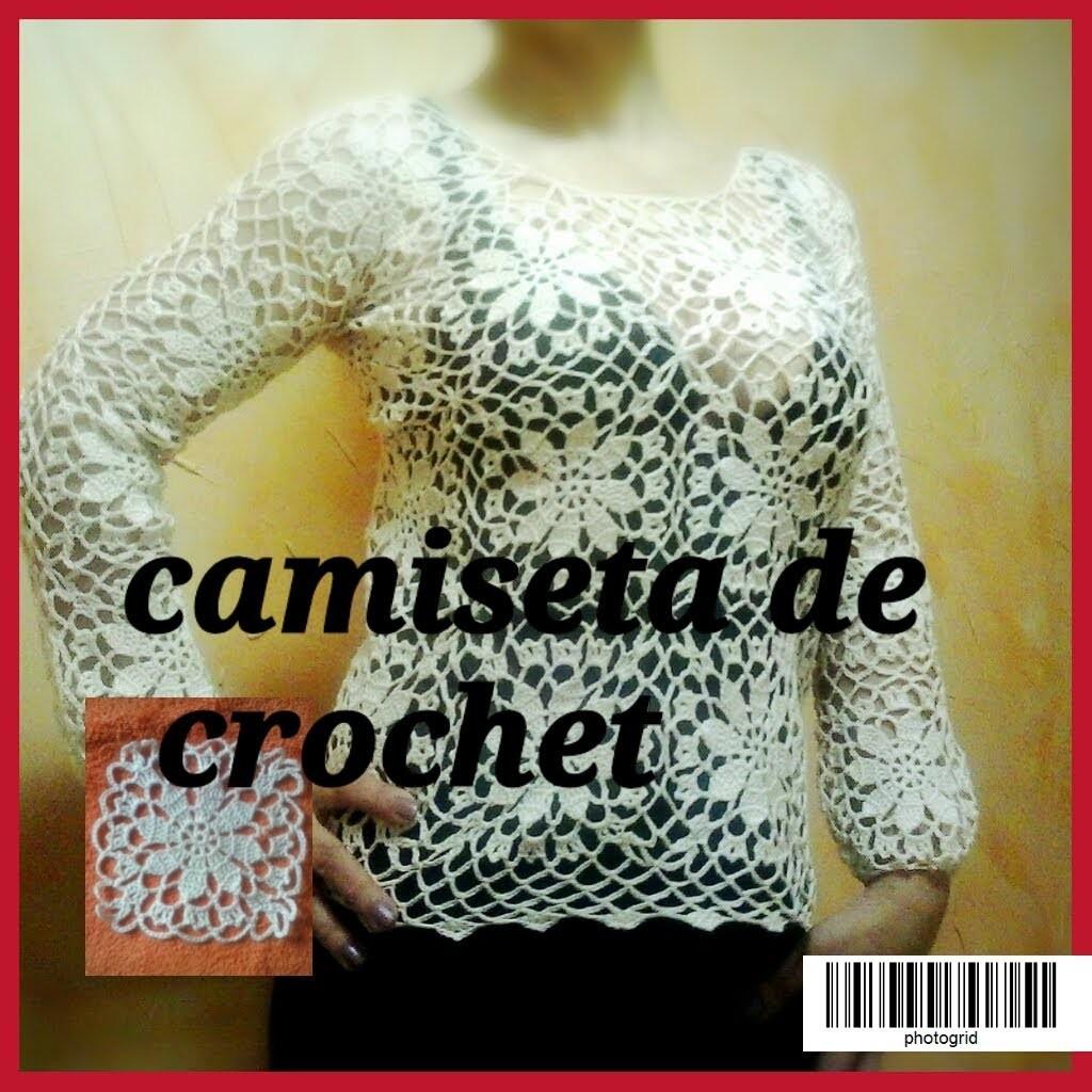 Tutorial:CAMISETA DE CROCHET O GANCHILLO