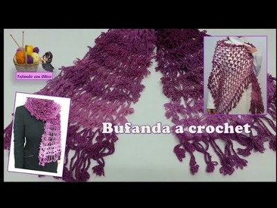 Tutorial de bufanda a crochet (ganchillo)