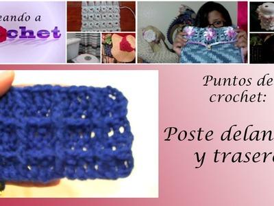 Tutorial de crochet: Poste delantero y trasero