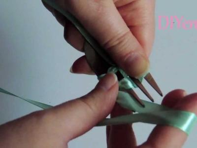 Tutorial DIY como hacer un lazo doble con ayuda de un tenedor.