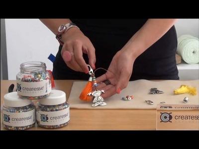 TUTORIAL DIY: Como se hace un LLAVERO DE COLGANTE CARMEN Y POMPON
