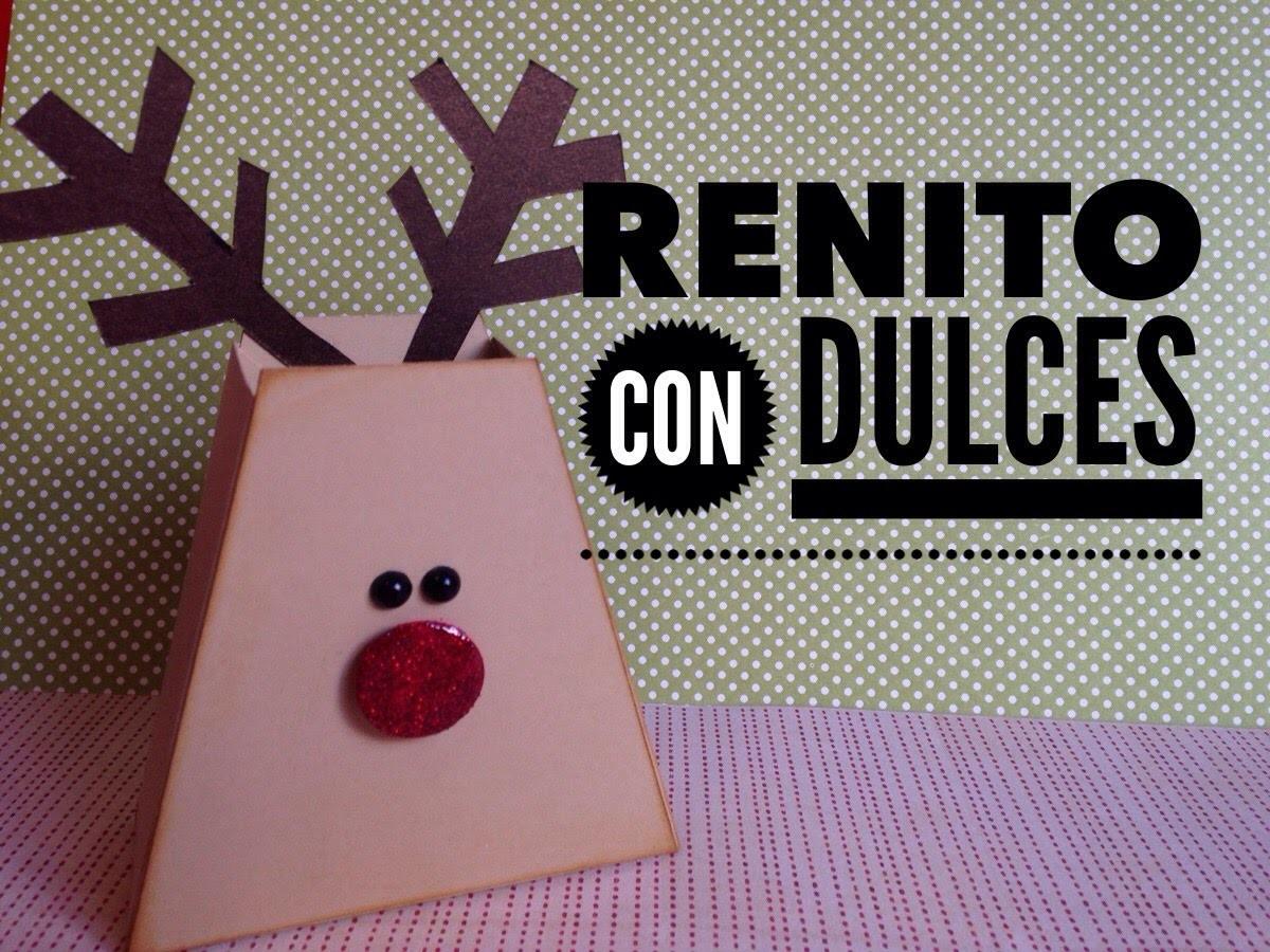 TUTORIAL Dulcero Navidad Reno.Reeinder Favor Bag
