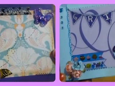 Tutorial: Mini Album tipo scrapbook con once bolsillos (adelanto: mi smash casero)