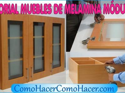 TUTORIAL MUEBLES DE MELAMINA MÓDULO 3