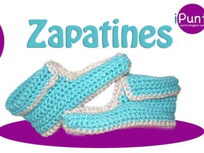 Tutorial Zapatines a crochet paso a paso