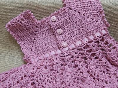 Vestido de Piñas Crochet parte 3 de 3