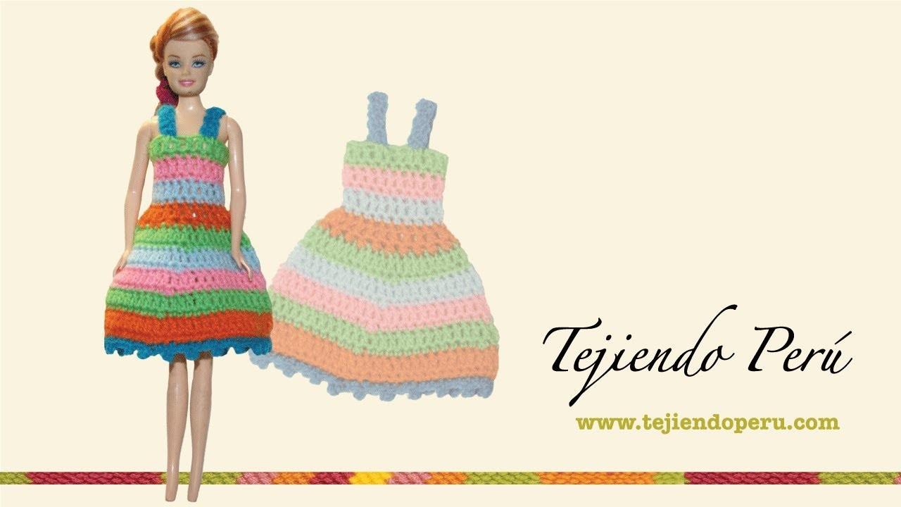 Vestido para muñeca tejido a crochet