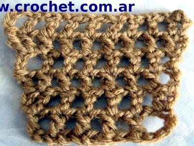 Aumento en punto red  a crochet tutorial paso a paso