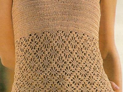 Blusa tipo camiseta a crochet muy fácil
