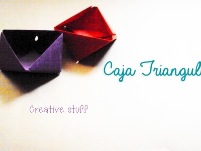Caja Triangular Sencilla [Origami]