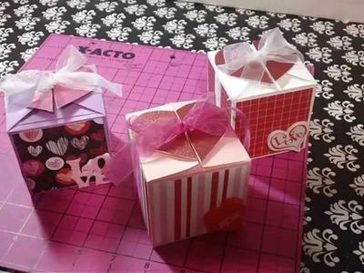 Cajita de regalo scrapbook para manualidades [ regalos para mi novio ] [ manualidades para regalar ]