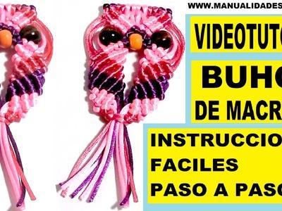 COMO HACER UN BUHO DE HILO CON NUDOS DE MACRAME. TUTORIAL DIY. KNOTS OWL .