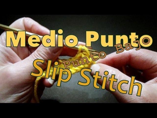Cómo tejer medio punto (single stitch) reeditado -tejido para zurdos-