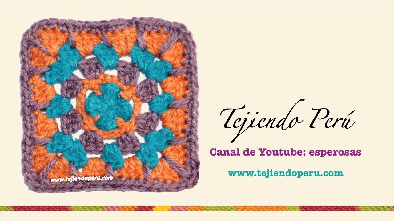 Cómo tejer un cuadrado en varios colores en crochet (Crochet granny square)