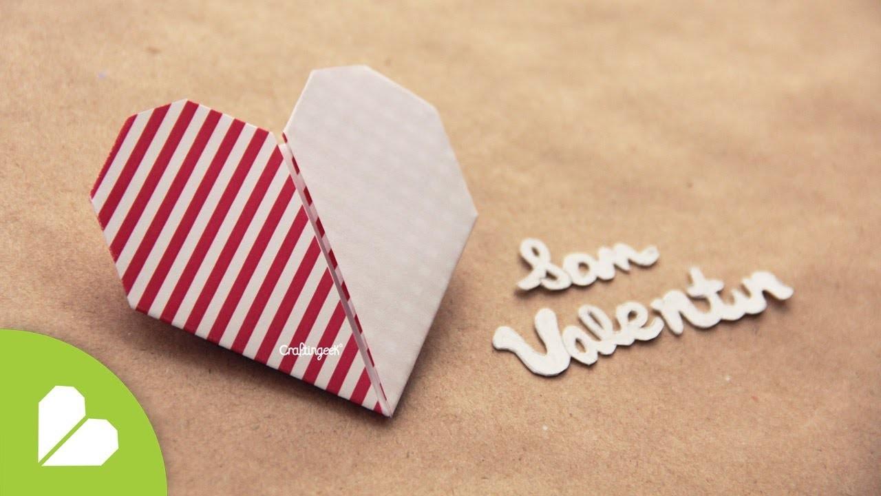 Corazon de papel de 2 colores ❤ Origami 2 color paper heart