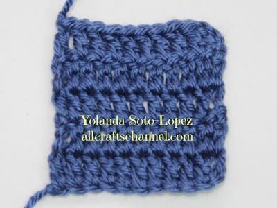# Crochet - como tejer orillas derechas (Video en Espanol)