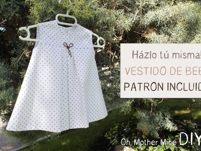 DIY Ropa bebé: Cómo hacer vestido de bebé niña muy fácil (patrón en varias tallas incluido)