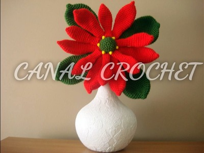 Flor de navidad crochet tutorial.