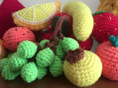 Frutas a crochet