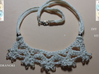 Gargantilla a crochet con trapillo