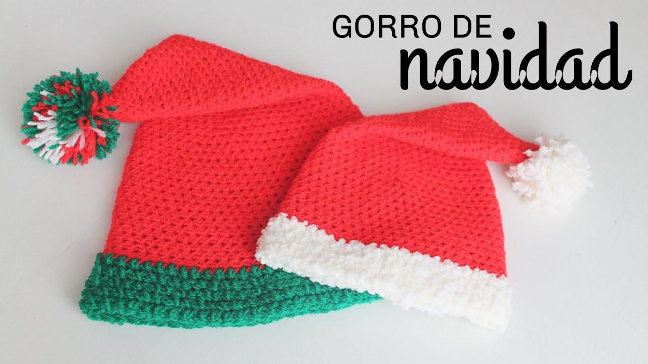 Gorro de Navidad a Crochet - TODAS LAS TALLAS - Paso a Paso