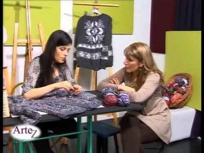 Hilados LHO en ARTEZ TV. campera con torzada al crochet.