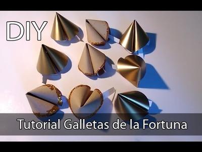 Manualidades fáciles con papel: Galletas de la Fortuna (Suerte) Tutorial DIY