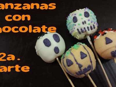 Manzanas con Chocolate Halloween #2.DIY TUTORIAL