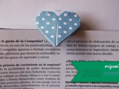 Origami - Marcador.Señalador corazón