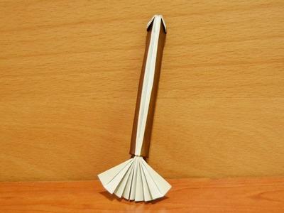 Origami para Halloween. Escoba de bruja