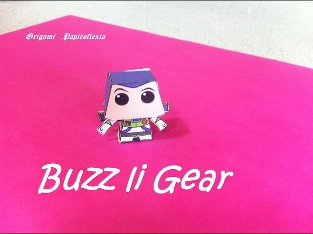 Paper Toys. Origami - Papiroflexia. Buzz li Gear, Toy Story.