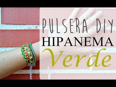✿ Pulsera DIY estilo Hipanema en tonos verdes | TUTORIAL BISUTERÍA DIY