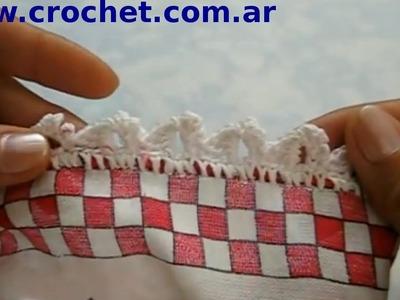 Puntilla Nº 48 en tejido crochet tutorial paso a paso.