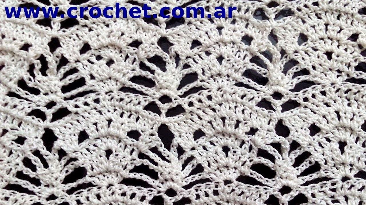 Punto fantasia Nº 68 en tejido crochet tutorial paso a paso.