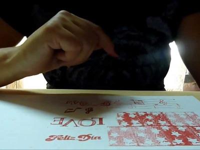 """Scrapbooking """" sellos"""" como hacerlos muy facil, lindos y economicos"""